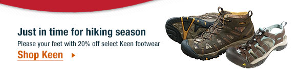 20% off select Keen footwear