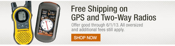 Free Shipping on GPS and 2-Way Radios